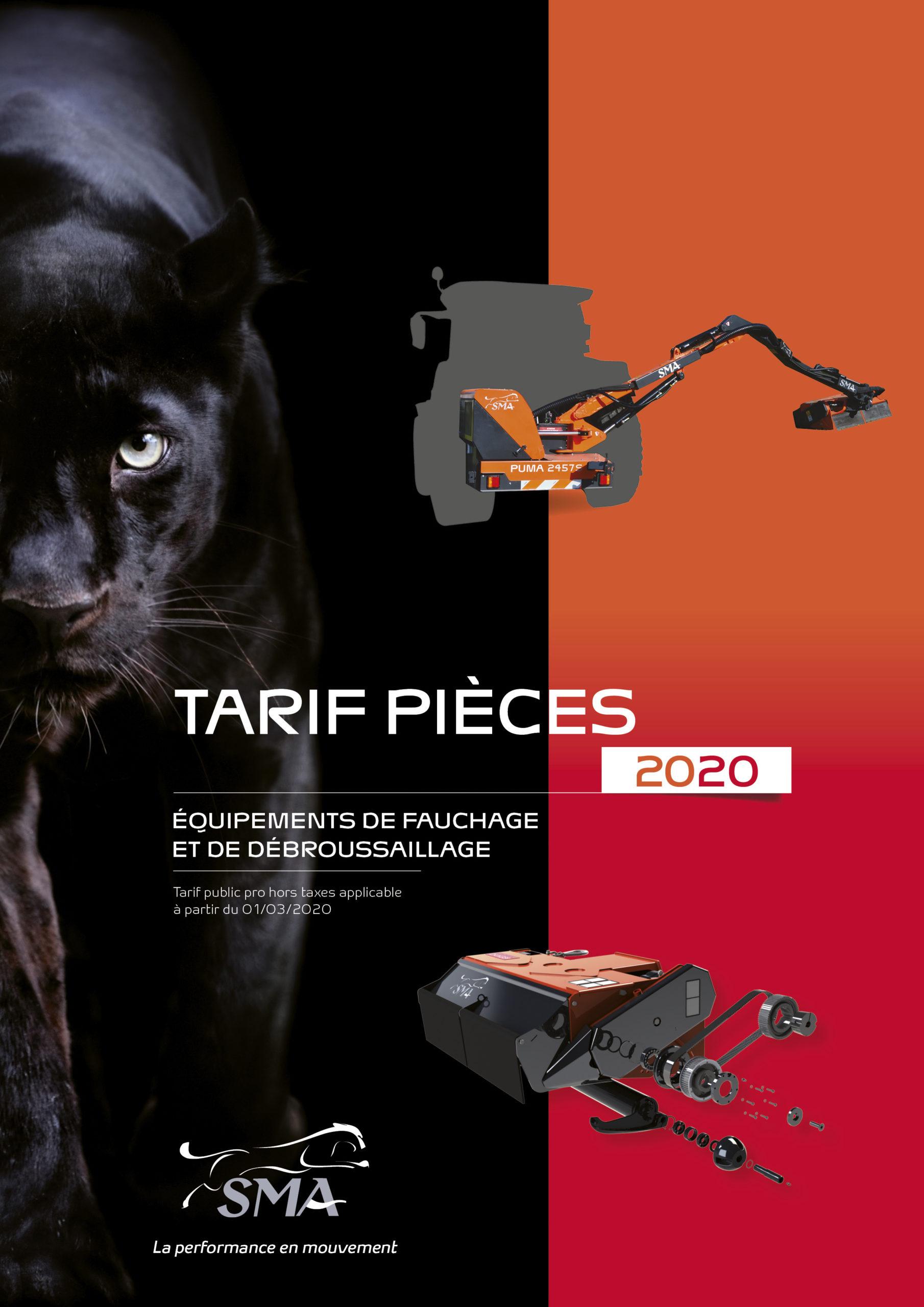 Tarif Pièces 2020