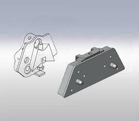 Demi accrochage semi-automatique pour outil avancé sur épareuses SMA